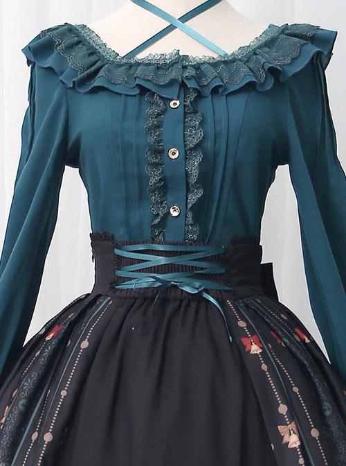 Alice's Christmas Series SK Classic Lolita Black Skirt