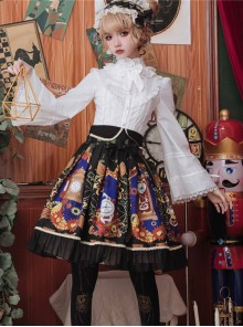 Time Machine Heart Series Printing Retro Classic Lolita Skirt