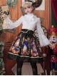 Time Machine Heart Series Printing Retro Classic Lolita Skirt