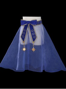 *Star Dream Magic Array* Series Printing Classic Lolita Transparent Organza Skirt
