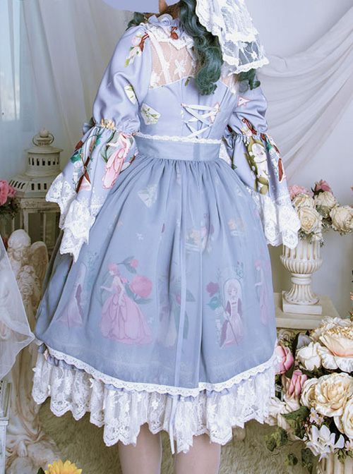 Magic Tea Party *Little Ada's Flowers* Series Retro Lace Sweet Lolita Cover Skirt