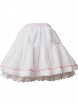 White Plush Cotton Lace Sweet Lolita Culottes