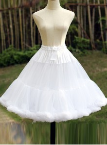 Super Fluffy Violence White Soft Sweet Lolita Cotton Candy Petticoat
