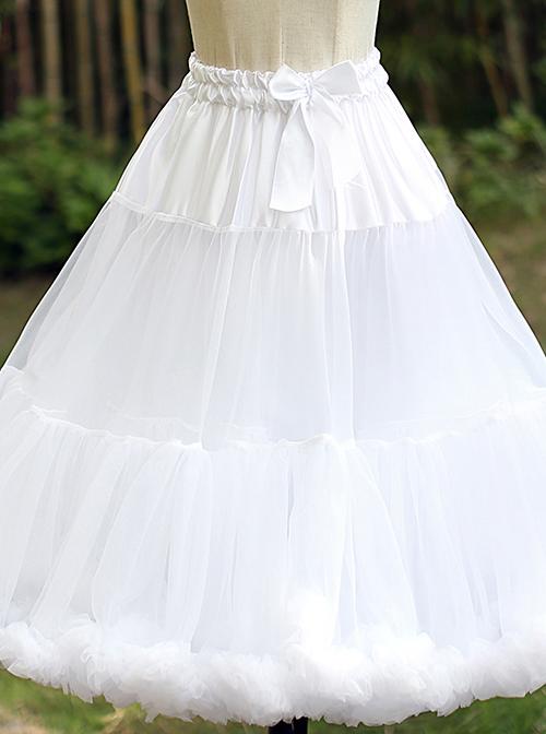 Super Fluffy Violence White Soft Sweet Lolita Cotton Candy Petticoat