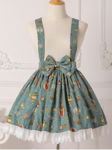 Mechanical Balloon Series Bowknot Sweet Lolita Suspenders Skirt