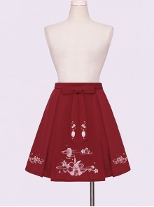 Sakura Rabbit Series Embroidery Sweet Lolita Skirt