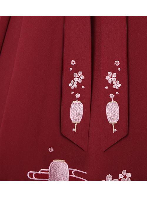 Sakura Rabbit Series Embroidery Sweet Lolita Skirt