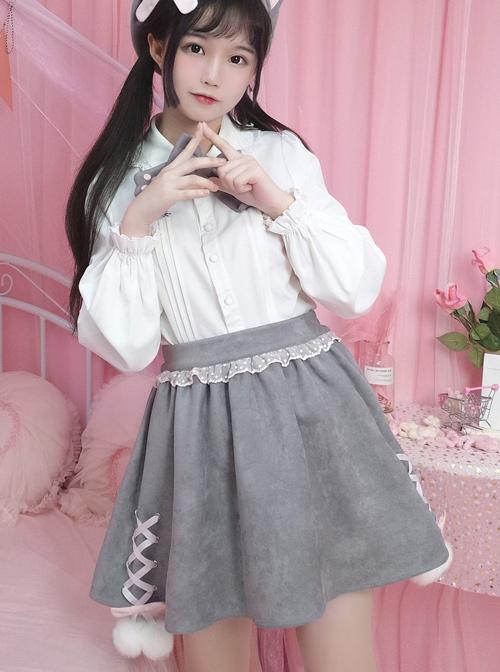 British Shorthair Series Cute Cat Tail Sweet Lolita Skirt
