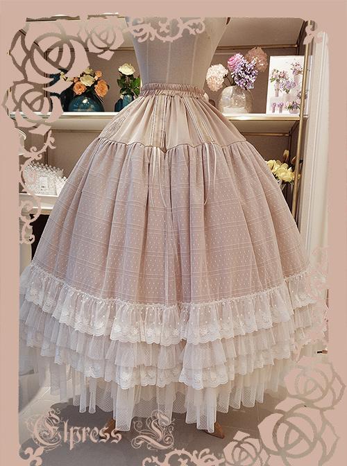 Elegant Adjustable Length Classic Lolita Long Style Petticoat