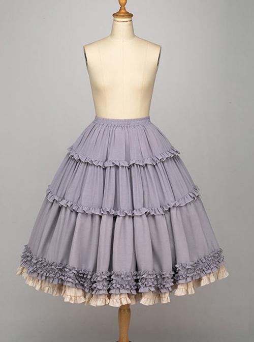 Elegant Bicolor Petticoat Classic Lolita Skirt