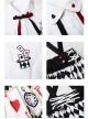 Sweet Lolita Embroidery White Short Sleeves Shirt And Poker Printing Sling Skirt Set