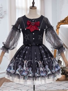 Rose Maiden Series SK Black Sweet Lolita Skirt Set