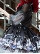 Rose Maiden Series SK Black Sweet Lolita Skirt Set
