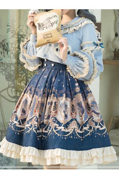 Explore The Stars Series SK Retro Palace Style Classic Lolita Skirt