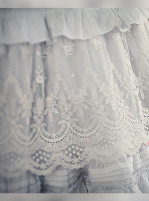 Pure Color Cotton Long Petticoat Classic Lolita Skirt