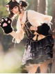 Small Forest Series Cute Bear Printing Sweet Lolita Shoulder Straps Skirt