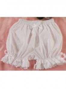 Cotton Pure White Lace Lolita Opaque Bloomers