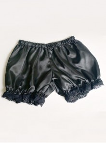 All-match Lovely Girl Black Lace Lolita Bloomers
