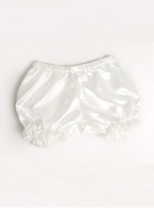 All-match Lovely Girl White Lace Lolita Bloomers