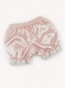 All-match Lovely Girl Pink Lace Lolita Bloomers