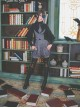 Love And Death Series Printing Dark Gray Lolita Bloomers