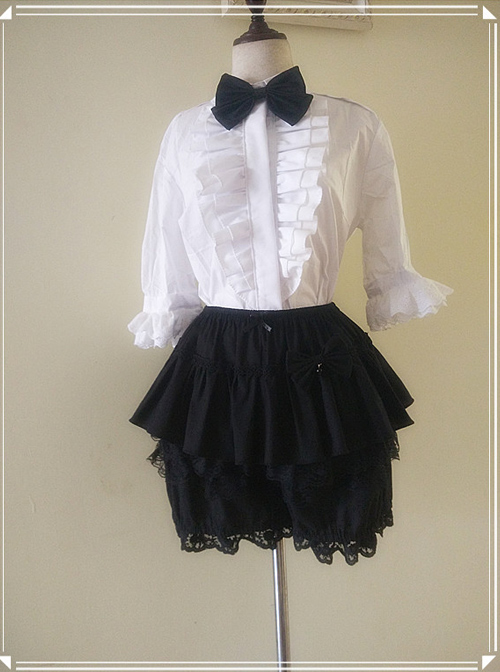 Pure Cotton And Linen Multilayer Sweet Lolita Bloomers