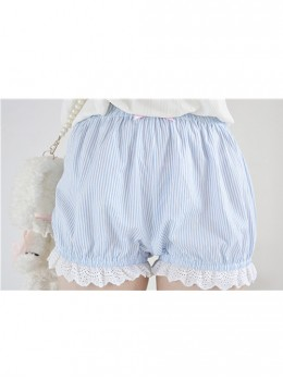 Cute Stripe Lace Sweet Lolita Bloomers