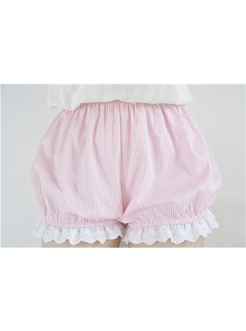 Cute Stripe Lace Sweet Lolita Bloomers