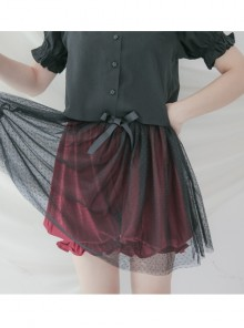 Multiple Colour Knit Net Yarn Sweet Lolita Bloomers