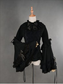 Gorgeous Flare Sleeve Black Bowknot Lolita Blouse
