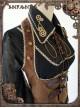 Mechanical Puppet Series Gear Embroidery Black Punk Lolita Shirt