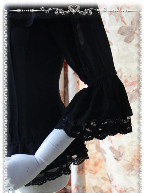 Daily Version Fairy Dance Series Black Small Trumpet Sleeves Lolita Shirt