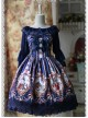 Daily Version Fairy Dance Series Deep Blue Small Trumpet Sleeves Lolita Shirt