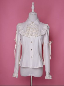 Retro Chiffon Gothic Lolita Long Sleeve Shirt