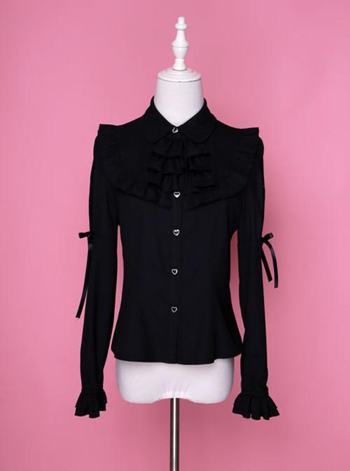 Retro Chiffon Gothic Lolita Long Sleeve Shirt