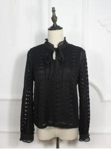 Retro Lace Elegance Bowknot Lolita Shirt