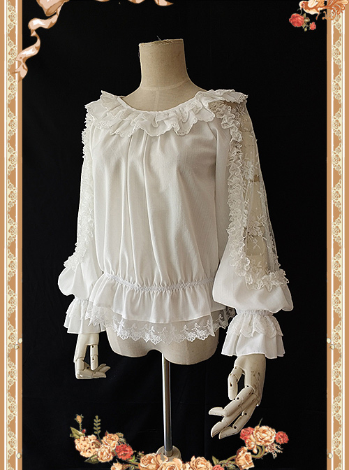 Infanta Jenny Cookies Series Lace Hollow Out Classic Lolita Shirt