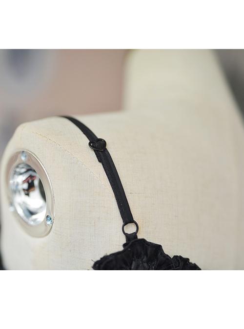 Silver-silk Chiffon Ruffle Flare Sleeve Off-shoulder Lolita Shirt