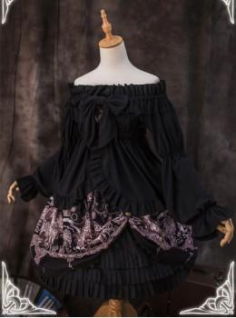 The Great Voyage- Puff Sleeve Elastic Neckline Lolita Shirt