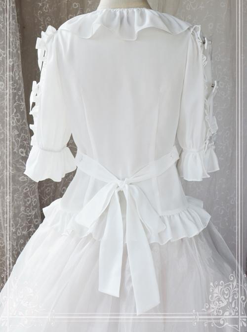 War Of Thrones Series White Classic Lolita Short Sleeve Shirt