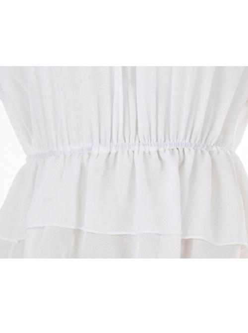 Chiffon Petal Collar Sweet Lolita Short Sleeve Shirt