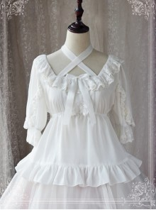 Ice Cream Party Series Chiffon Lace Lolita Short Sleeve Shirt