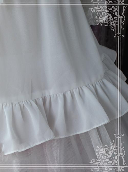 Ice Cream Party Series Chiffon Lace Lolita Short Sleeve Shirt