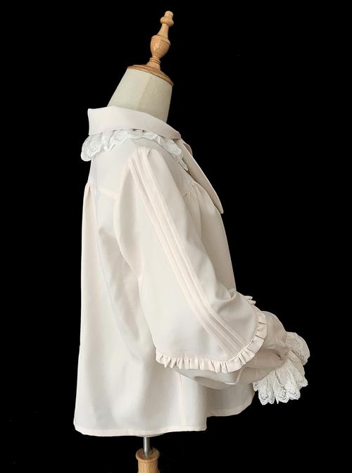 High-density Chiffon Long Puff Sleeve Lolita Shirt