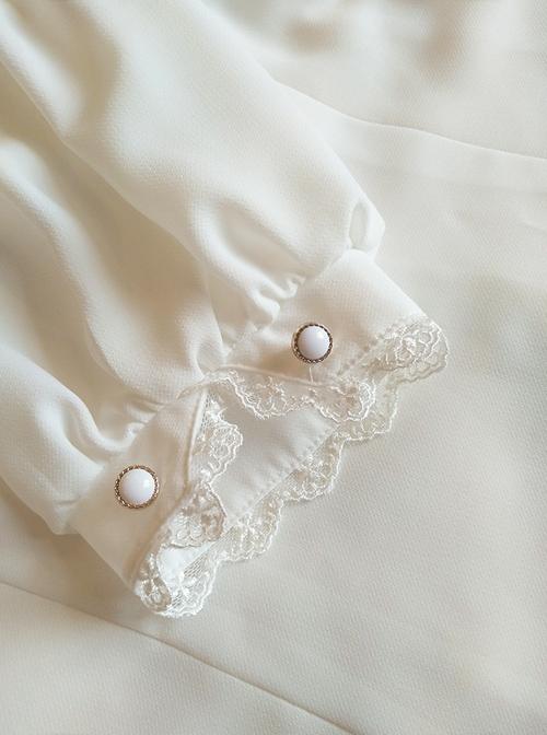 Chiffon Lapel Classic Lolita Short Sleeve Shirt