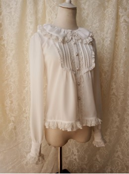 Retro Doll Collar Classic Lolita Long Sleeve Shirt