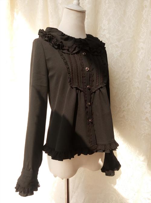 Retro Doll Collar Classic Lolita Long Sleeve Shirt