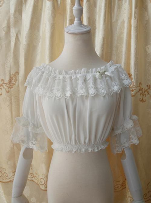 Chiffon Lace Classic Lolita Half Sleeve Shirt