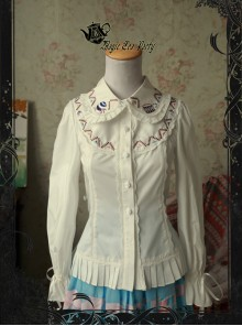 Magic Tea Party Circus Maiden Series Embroidery Lace Lolita Shirt