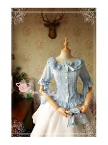 Magic Tea Party Cross And Censer Series Chiffon Short Sleeves Lolita Shirt
